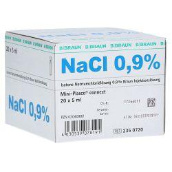 Miniplasco NaCl. 0.9%, verp. à  20 stuks