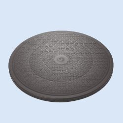 Draaiplateau, hard, beide zijden bekleed met anti-slip laag