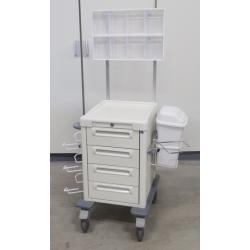 Medicijnwagen 1/2  hoog, 4 x 10 cm lade en dispenser