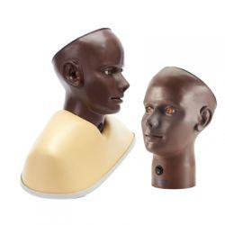 Oog en ooronderzoeks trainer, digitaal, donkere huidskleur