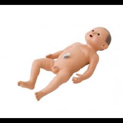 Babypop met navelstreng