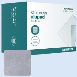 Klinion Alupad tracheo alu verband,*S* 8x10cm, verp.à 50 stuks