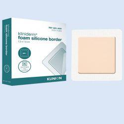 Kliniderm Foam Siliconenverband border, *S*10x10cm,verp.à 5 stuks