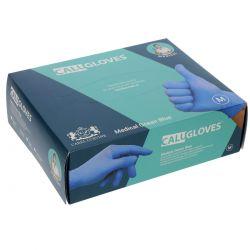 CaluGloves nitriel,*NS* mt. L, blauw verp. á 200 stuks