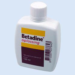 Betadine oplossing,120 ml, verp. 1 flesje