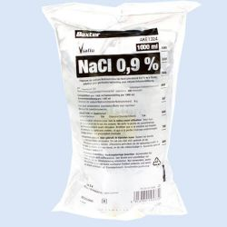 NaCl. 0,9%, infuuszak 1000ml, verp. à 10 stuks