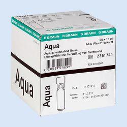 Aqua voor injectie, miniplasco 10ml, verp. à 20 stuks