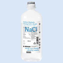 NaCL 0.9 % Spoelvloeistof 500 ml, verp.10 stuks