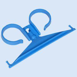 Curion bedhanger 1-delig, kunststof, blauw, verp. à 10 stuks