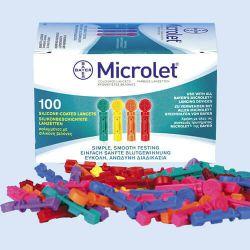 Microlet lancetten gekleurd, verp. à 100 stuks