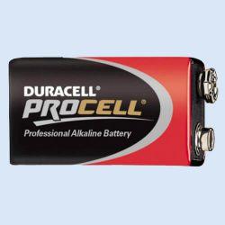 Batterij Procell 9V. 6LR61, verp. 1 stuk
