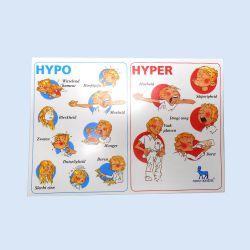 Hypo Hyper kaartjes voor diabetici, verp.à 20 stuks