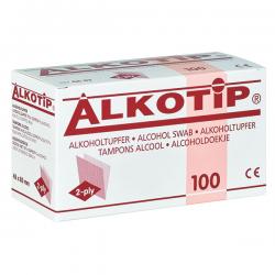 Alkotip alcoholdoekjes 45 x 83 mm. verp.à 100stuks