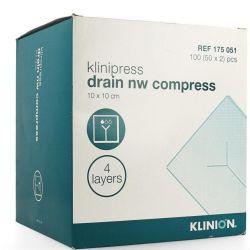Klinion split/drainkompres, verp. à 50x2 stuks