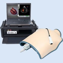 HW TTE Mobile Simulator, chest cover, laptop & probes