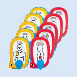 Trainingspads voor Lifepak Cr plus trainer, 5 paar, blauw