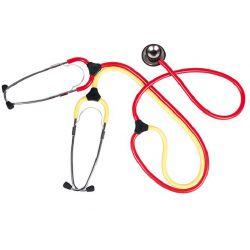 Kawe trainings stethoscoop rood/geel