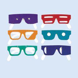 Brillenset met oogaandoeningen (6 stuks)