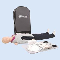 Resusci Anne QCPR AED AW Full Body Luchtweghoofd in trolley koffer