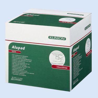 Klinion Alupad alu verband, *S* 10x10cm, verp. à 50 stuks
