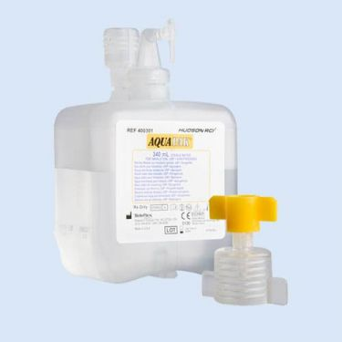 Aquapak steriel water, 340ml met zuurstof adapter,verp.1 stuk