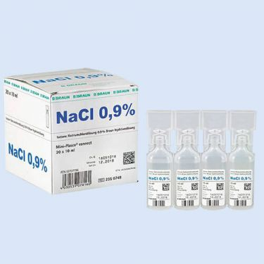 NaCl, 0,9%, miniplasco 10ml., verp. à 20 stuks